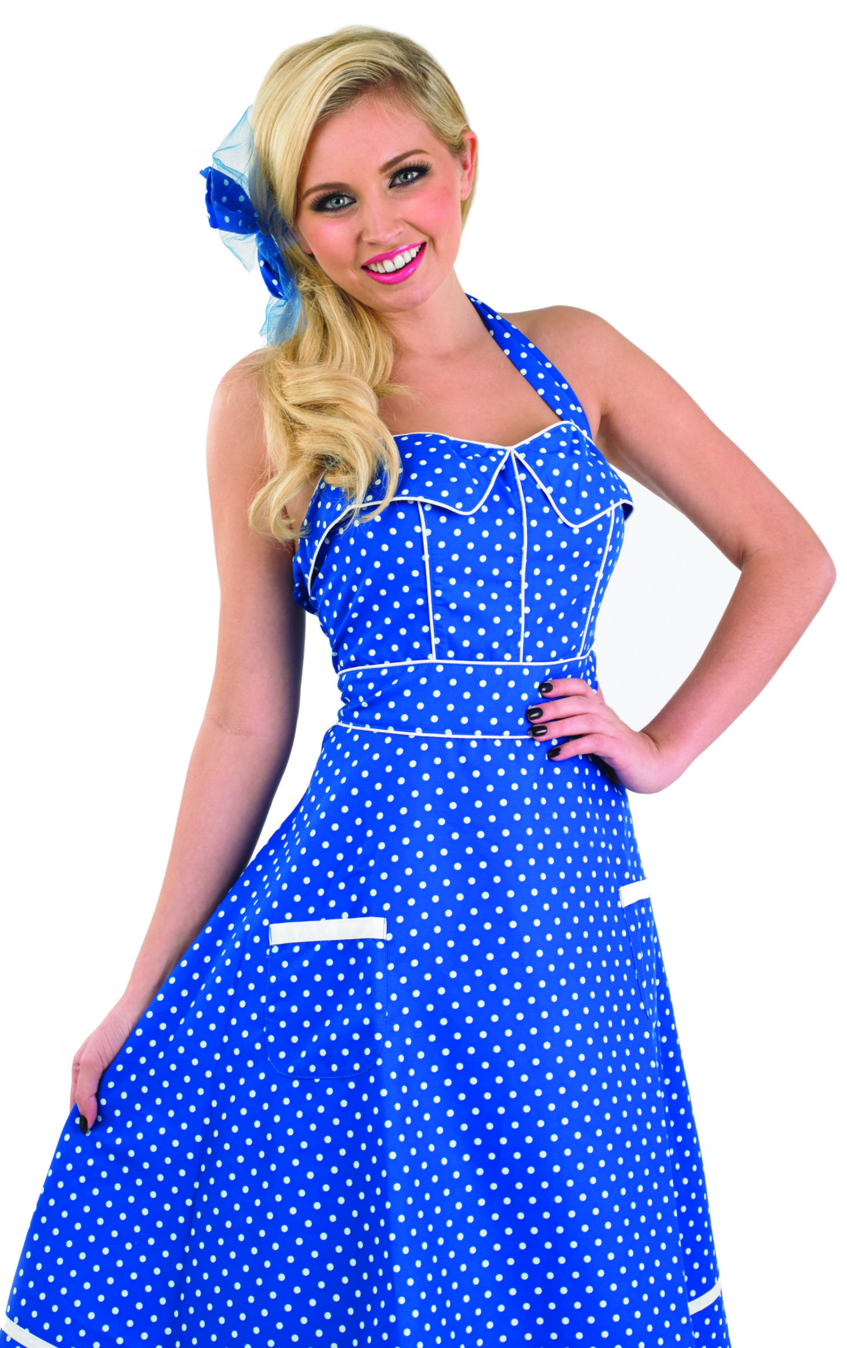 Ladies 50'S Blue Dress Costume
