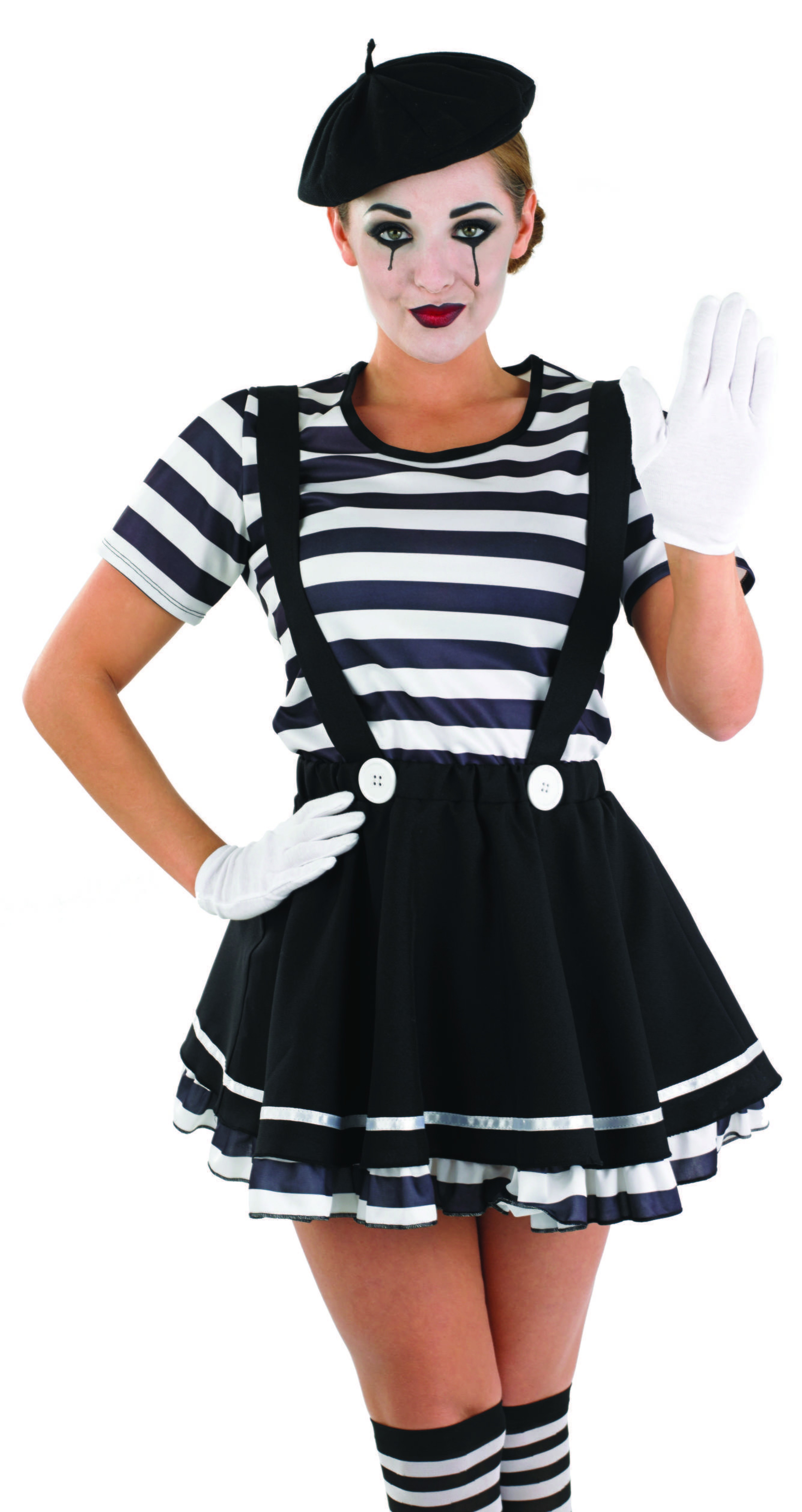 sc 1 st  Fun Fancy Dress & Ladies French Mime Street Artiste costume