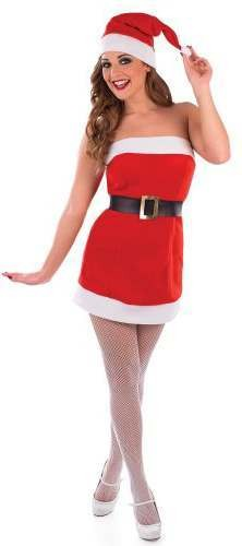 Ladies Sexy Christmas Cracker Fancy Dress Costume
