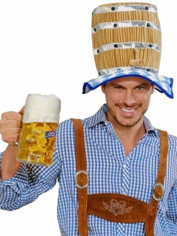 Oktoberfest Beer Keg Party Hat Costume