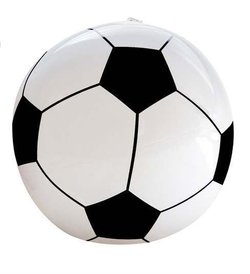 Inflatable Soccer Ball 25cm Fancy Dress Accessory