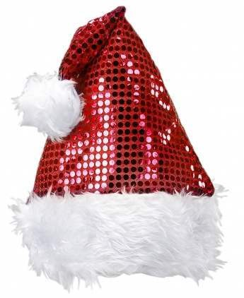 Festive Red Sequin Santa Claus Party Hat