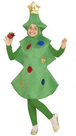 Childs Festive Christmas Tree Fancy Dress Costume