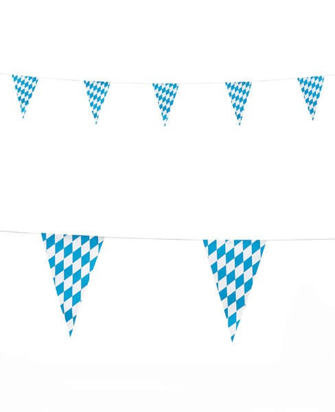 Blue & White Bavarian Flag Garland 6m