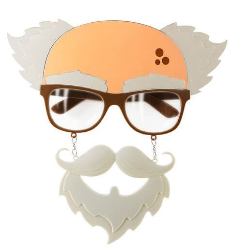 Adults Old Man Glasses Beard And Moustache Set Fancy Dress Accessory