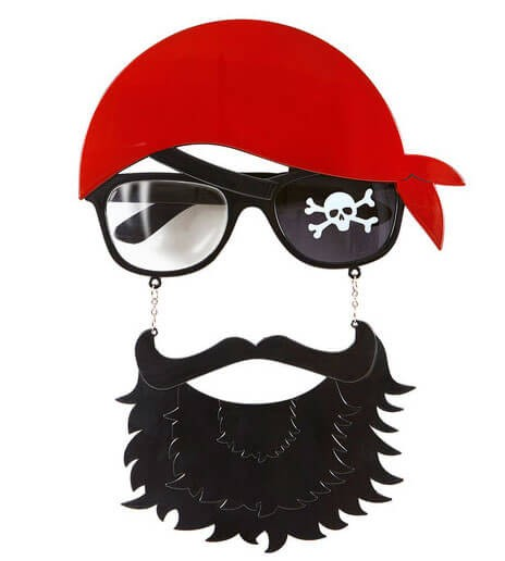 Adults Pirate Glasses With Black Beard And Moustache Set Fancy Dress Costume