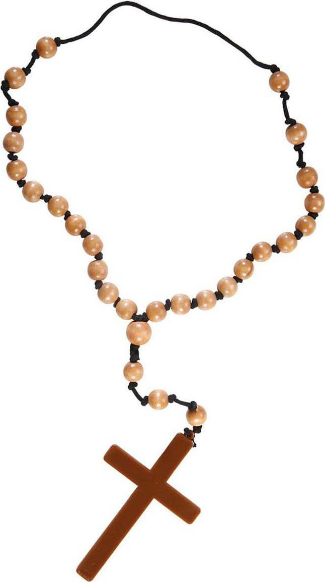 Ladies Rosaries Necklace Jewellery - (Brown)