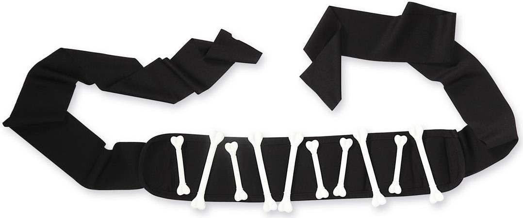Mens Bone Belts Jewellery - (Black, White)