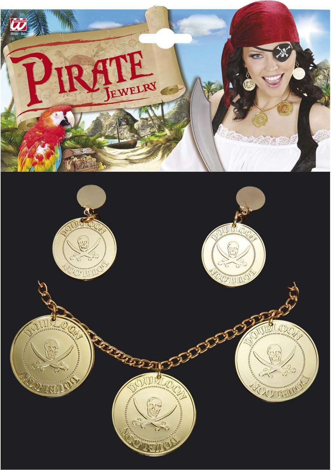 Adult Unisex Pirate Jewellery Jewellery - (Gold)