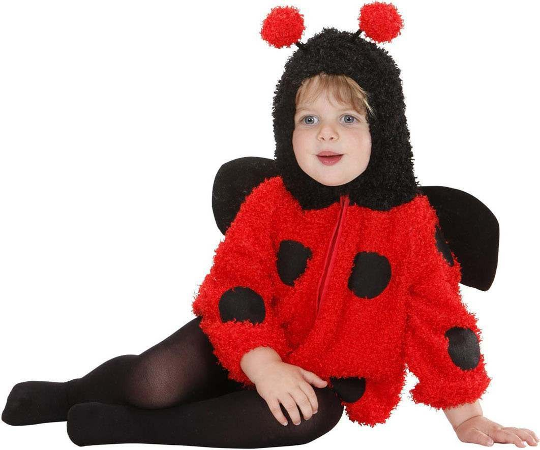 Toddler Fuzzy Ladybug Baby Animal Outfit - (Red)