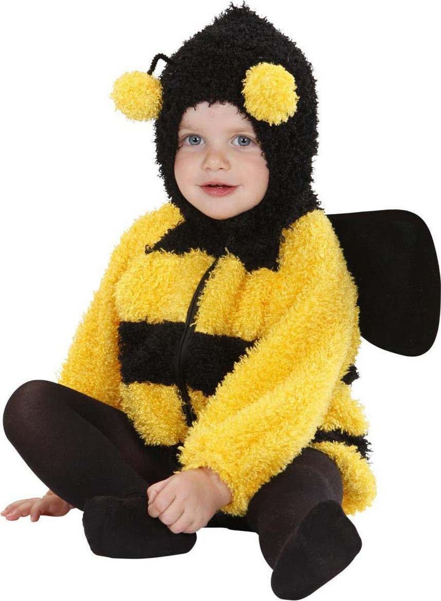 Toddler Fuzzy Bee Baby Animal Outfit - (Black, Yellow)