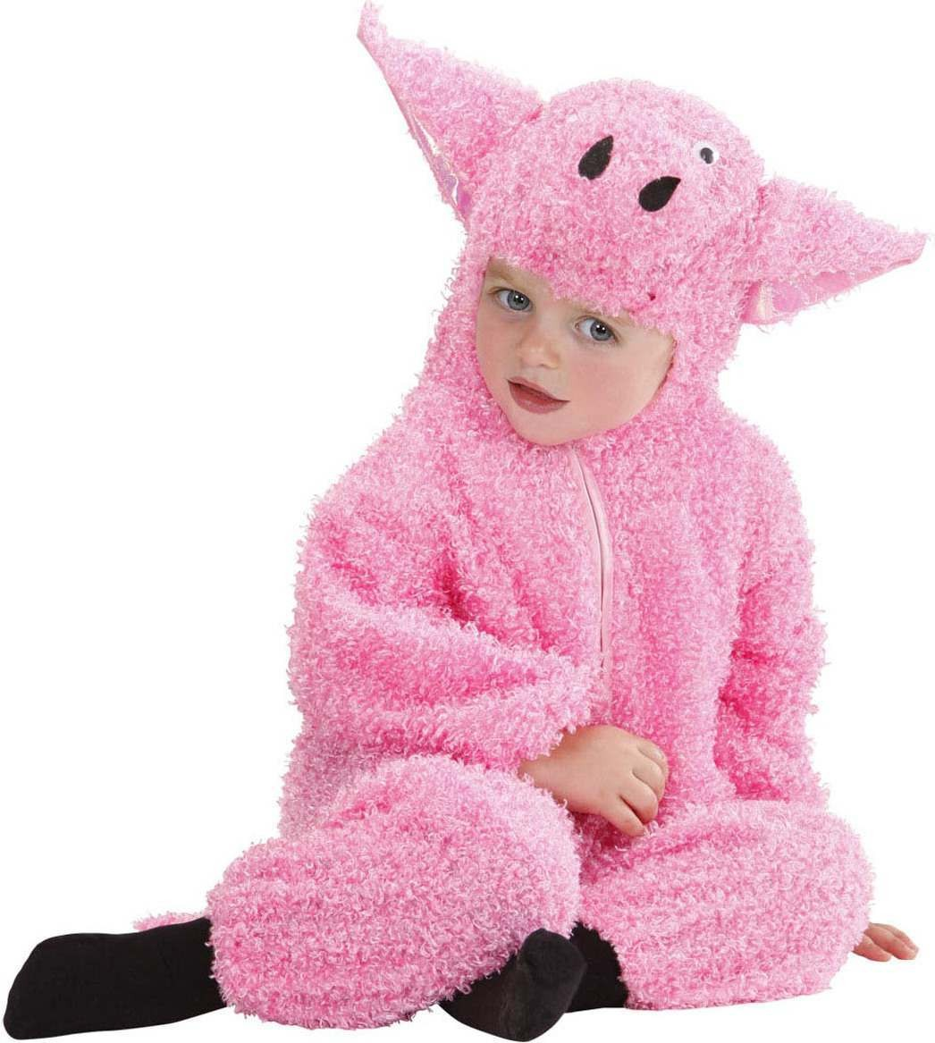 Toddler Fuzzy Pig Baby Animal Outfit - (Pink)