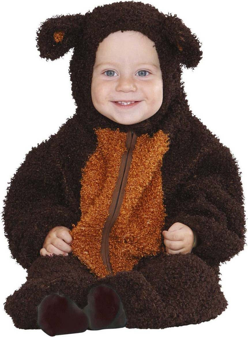 Toddler Fuzzy Bear Baby Animal Outfit - (Brown)
