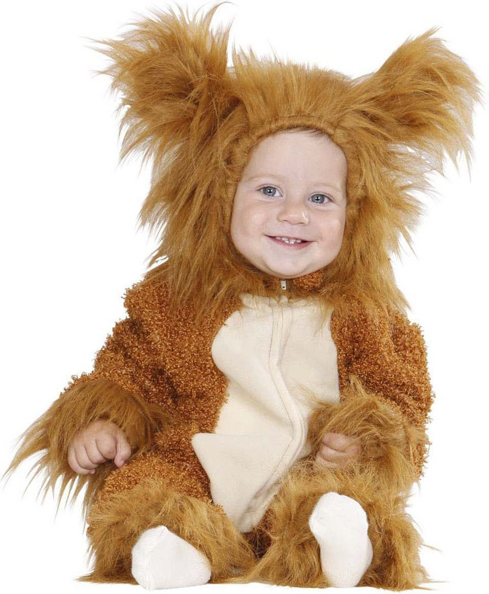 Toddler Fuzzy Lion Baby Animal Outfit - (Gold)