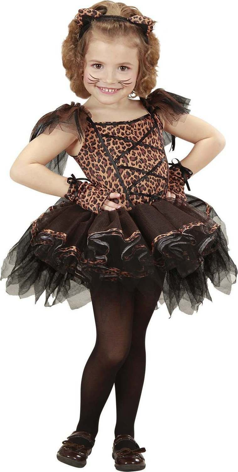 Girls Ballerina Leopard (110Cm &116Cm) (Tutu Dress Ears Gloves) Ballerina
