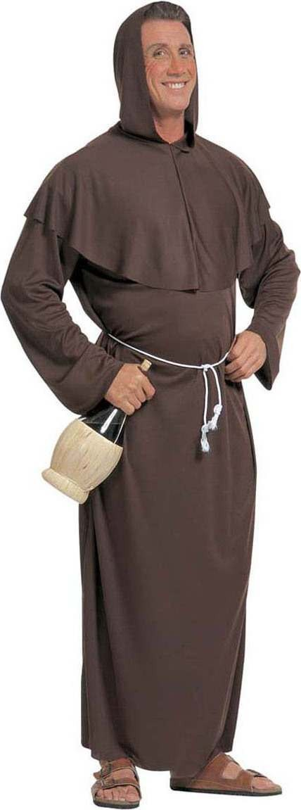 Mens Monk Costume Vicars/Nuns Outfit (Brown)
