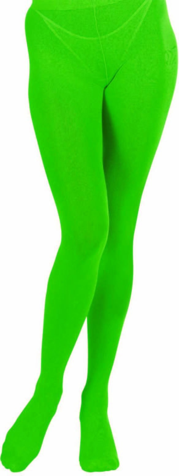 Ladies Green Pantyhose 40 Den Tights - Size 10-12 (Green)