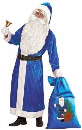 Adult Deluxe Blue Santa Coat