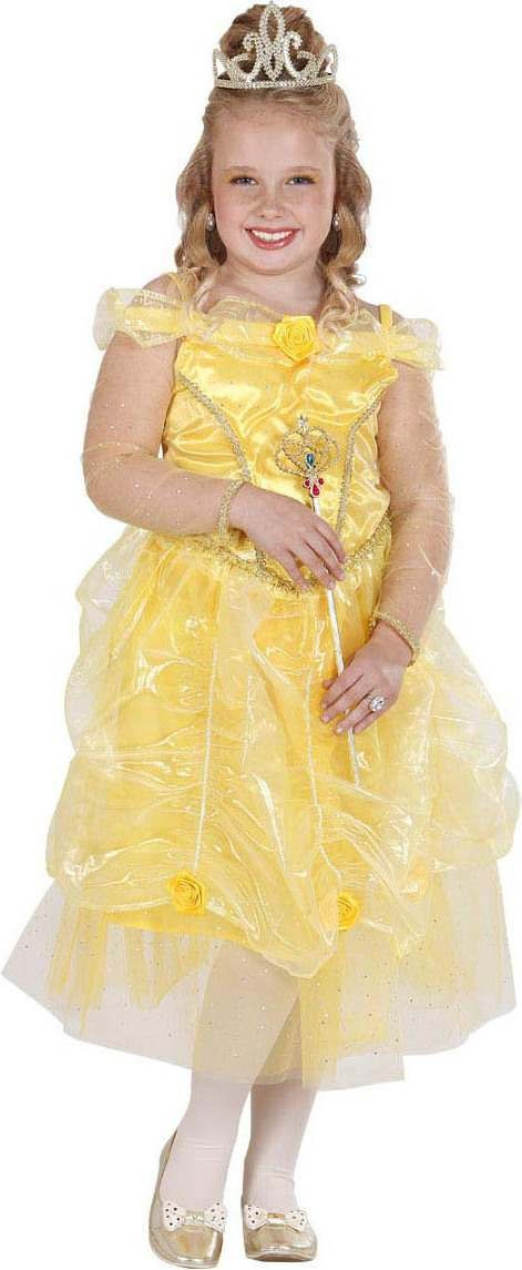 Girls Sunshine Princess Fairy Tales Outfit - (Gold)