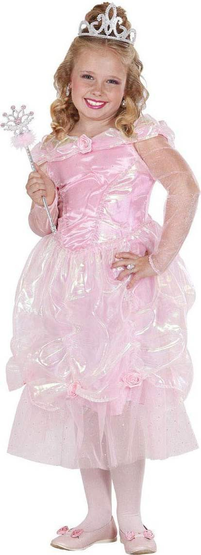 Girls Rose Princess Fairy Tales Outfit - (Pink)