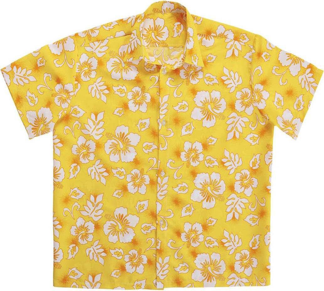 Mens Hawaiian Shirt - Yellow Hawaiian Outfit - Chest 46-48 (Yellow)