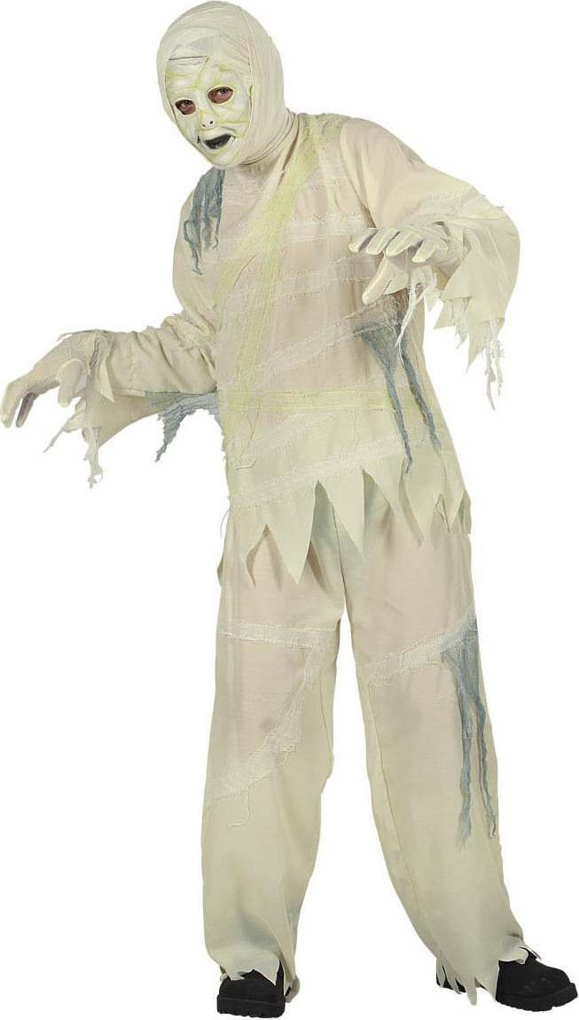 Boys Mummy Costume Egyptian Outfit - (White)