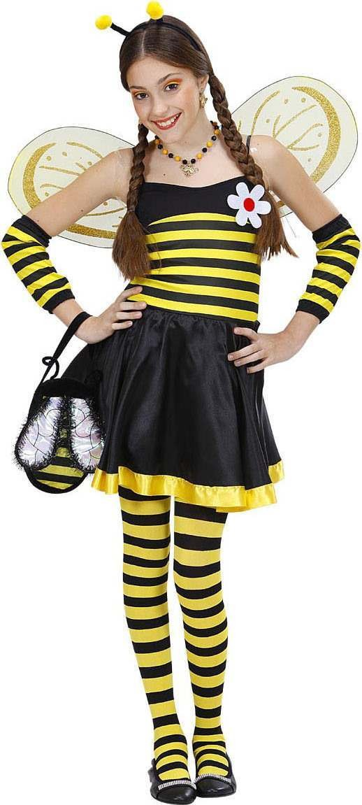 Girls Bee- Costume Animal Outfit - (Black, Yellow)