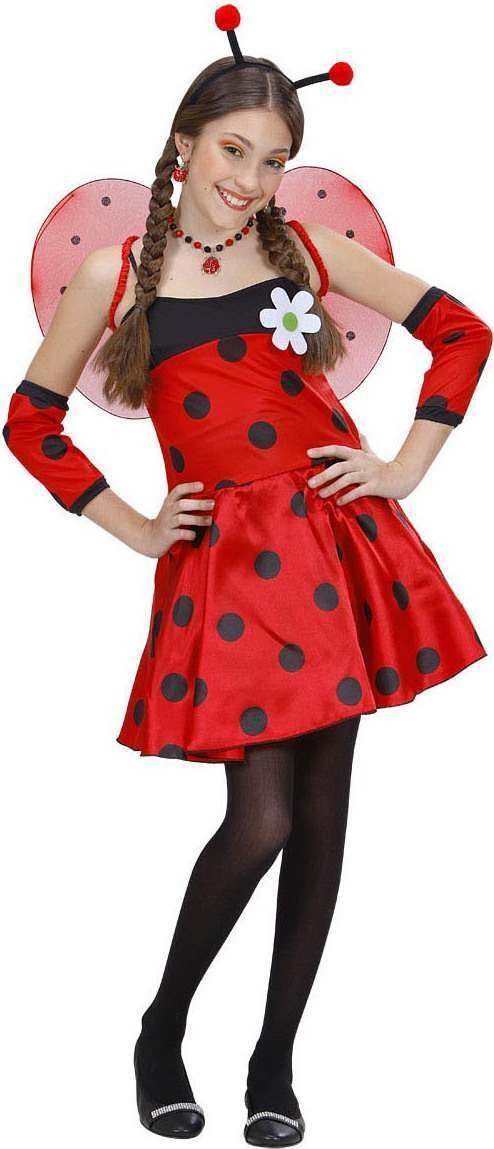 Girls Ladybug- Costume Animal Outfit - (Red, Black)