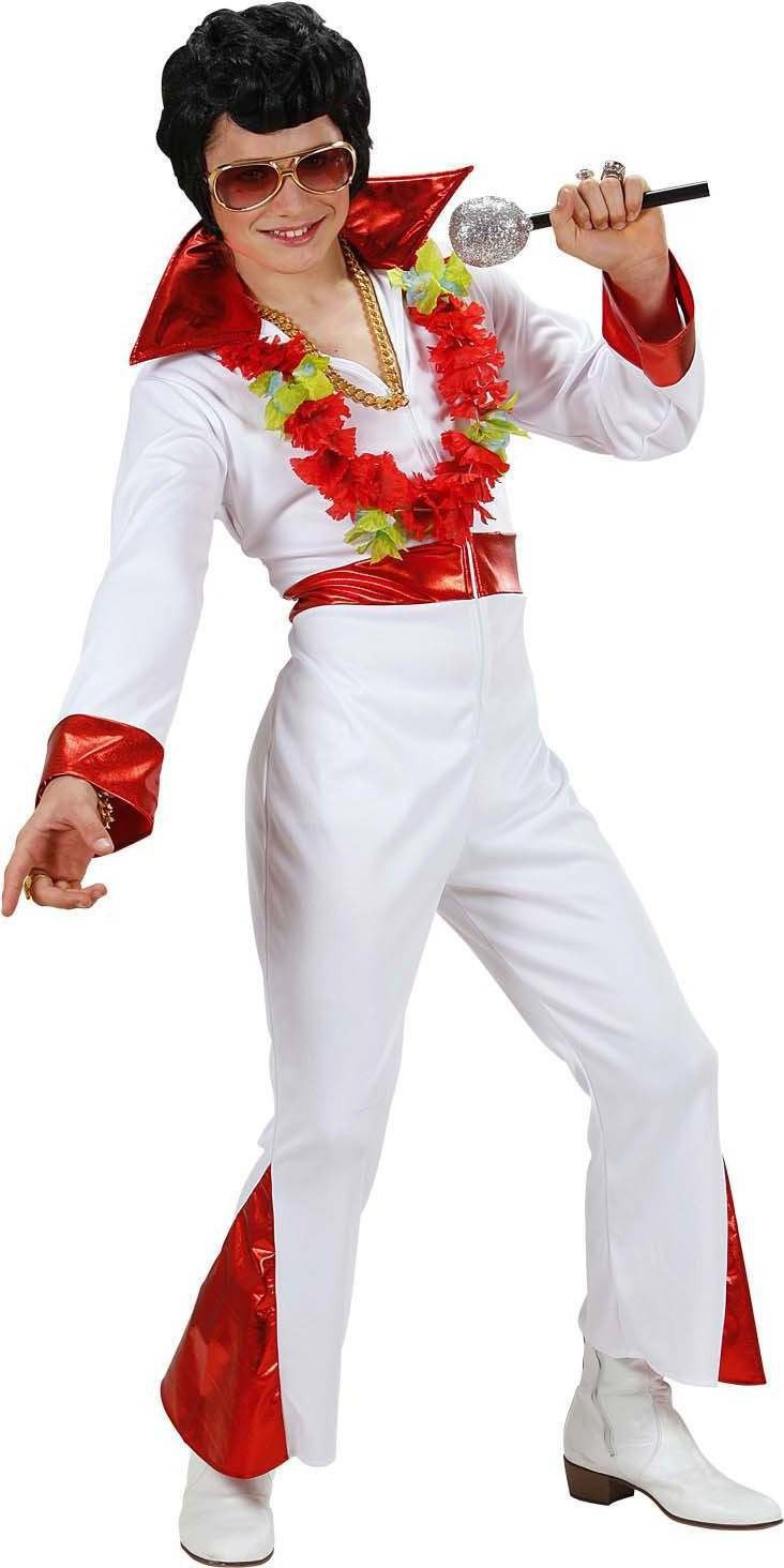 Boys King Of Rock N Roll (Jumpsuit) 1950'S Outfit - (White)