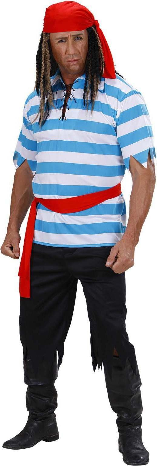 Mens Caribbean Pirate- (Shirt Pants Belt Bandana) Pirates