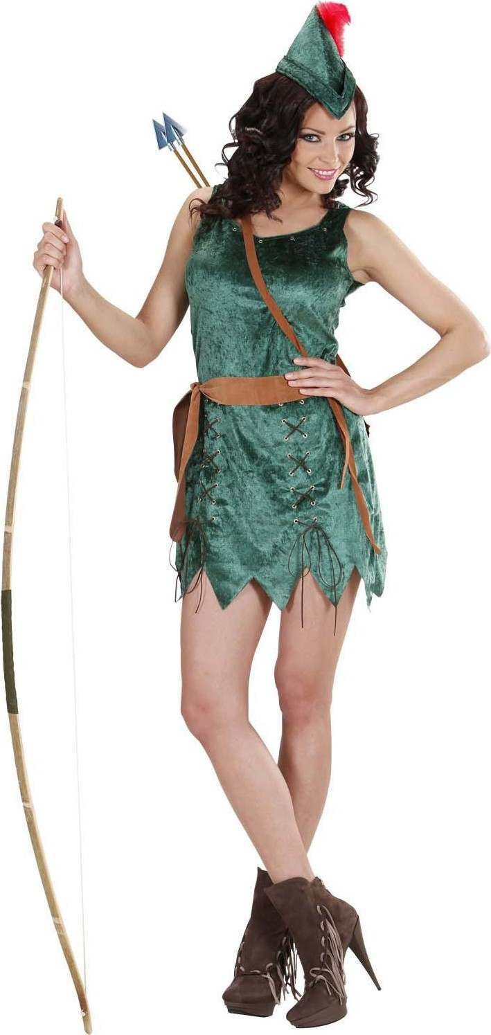 Ladies Robin Of Sherwood Girl- (Dress Belt Hat) Medieval - (Green)