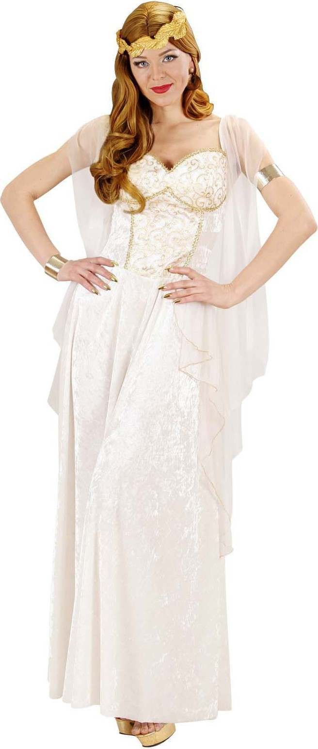 Ladies Greek Goddess- (Dress W/Veils Laurel) Greek Outfit - (White)