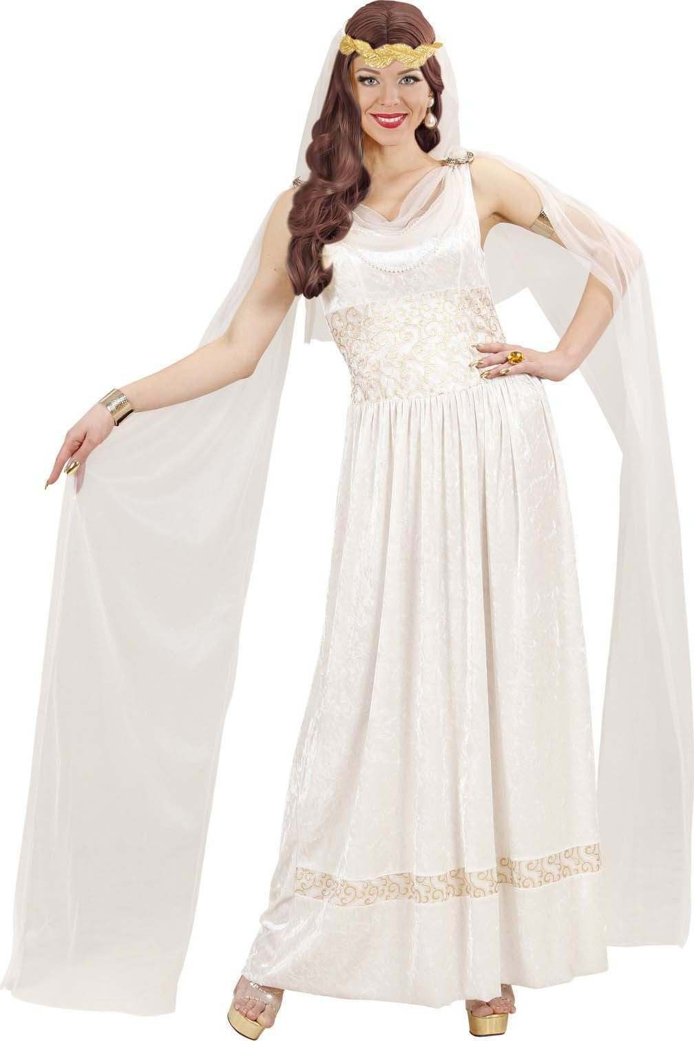Ladies Roman Empress- (Dress W/Viels Laurel Crown) Roman - (White)