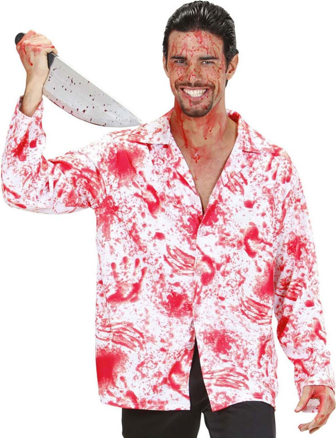 Mens Psycho- (Bloody Shirt) Outfit - (Red,White)
