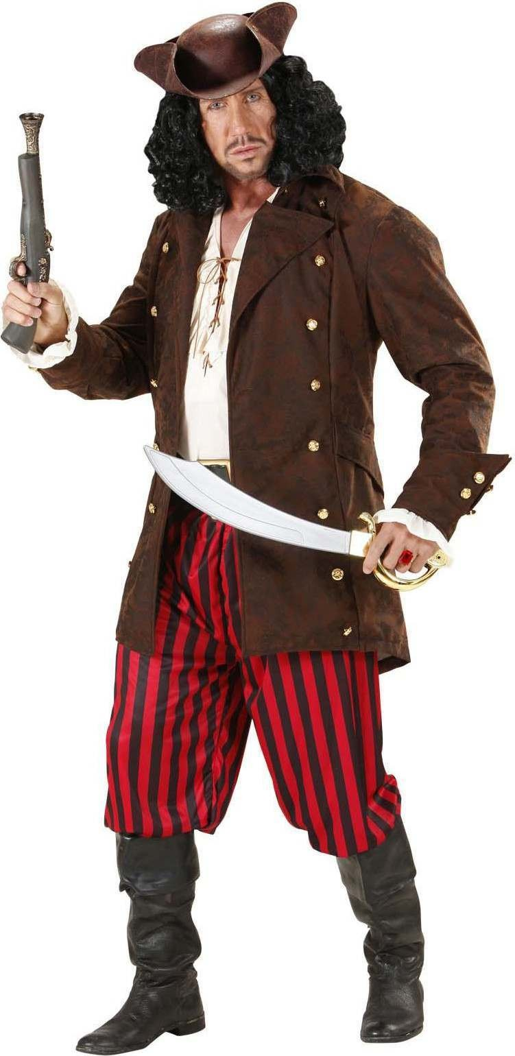 Mens Pirate Coats Pirates Outfit (Brown)