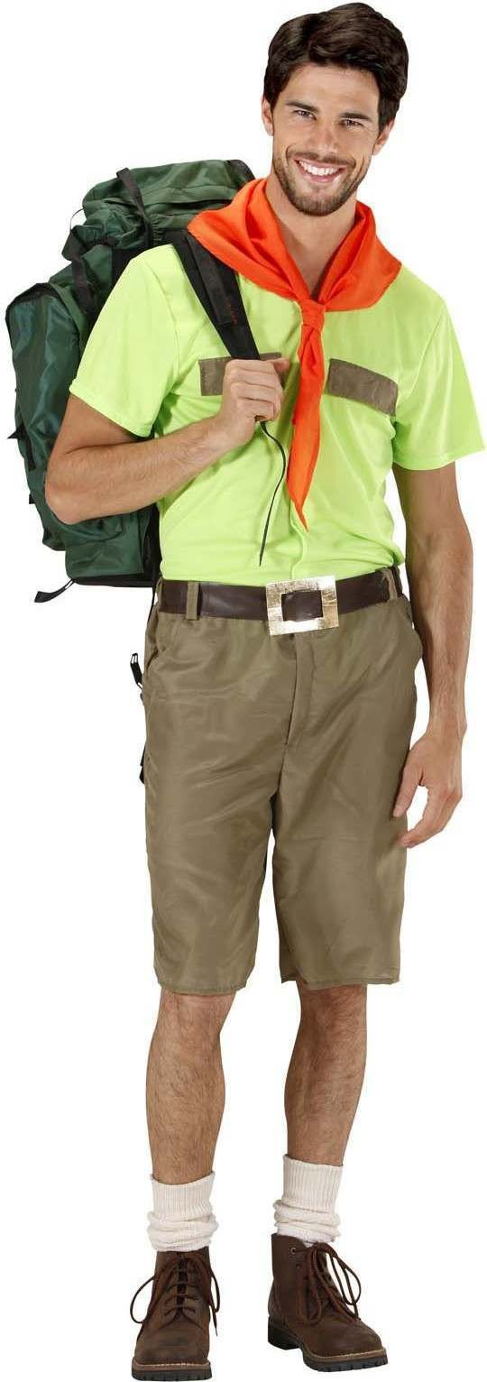 Mens Boy Scout- (Shirt Shorts Belt Scarf) Boyscout (Green, Brown)