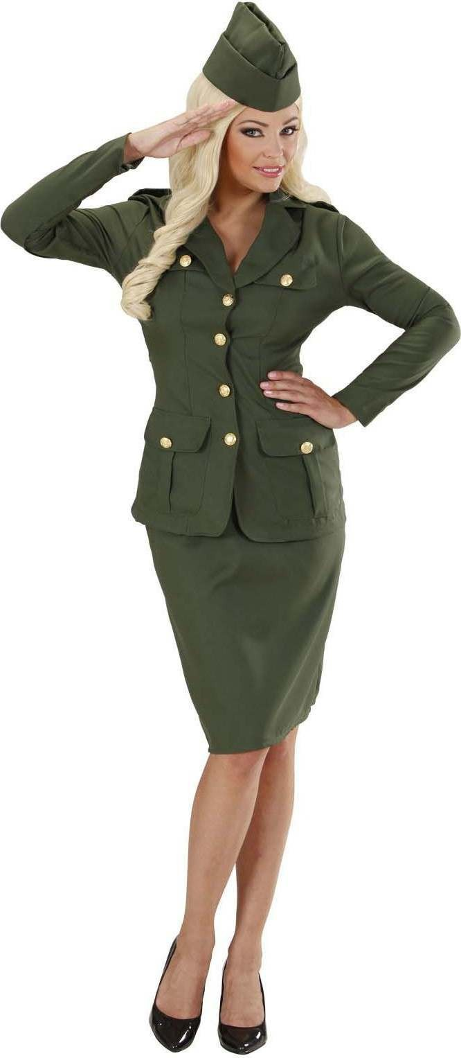 e3db4eee1f7 Buy Ladies Ww2 Soldier Girl- (Jacket Skirt Hat) Army Outfit - (Green) - Largest  online fancy dress range in the UK - Price Guarantee   FREE Delivery