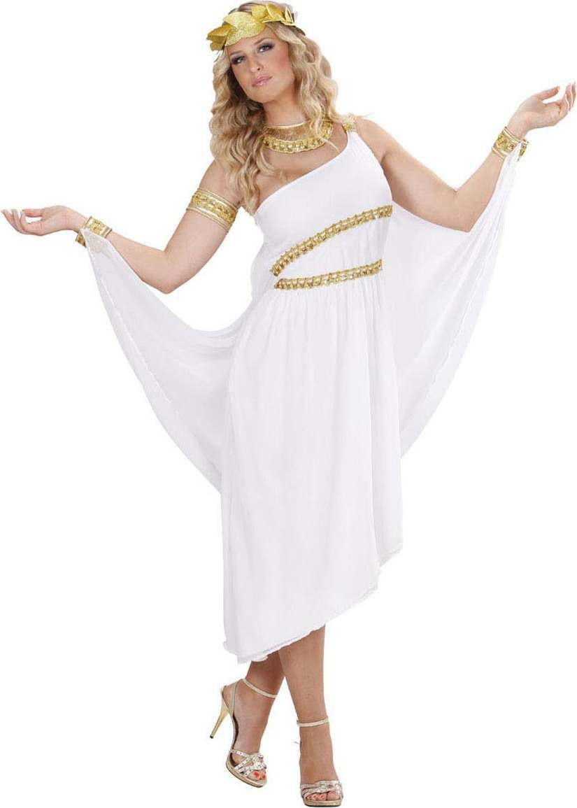Ladies Greek Goddess Greek Outfit - (White)