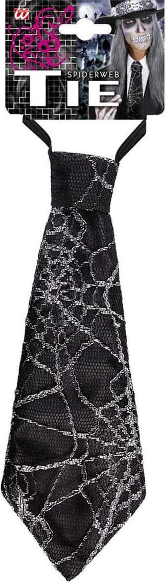 Adult Unisex Spiderweb Ties 27Cm Accessories - (Black)
