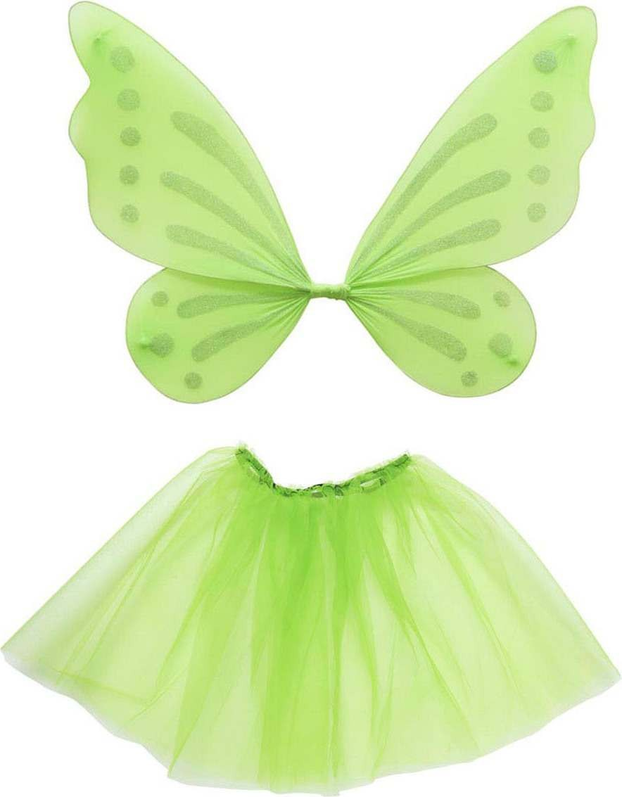 Girls Forest Fairy Dress Up Set - Child Accessories - (Green)