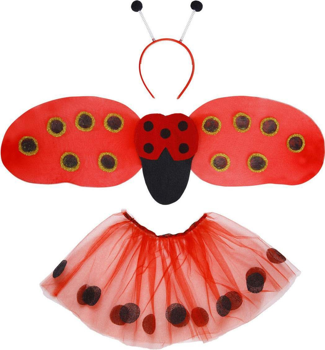 Girls Ladybug Dress Up Set - Child Accessories - (Red)