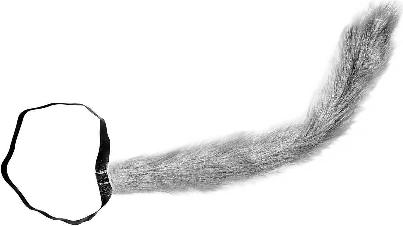 Bendable Plush Wolf Tail Accessories
