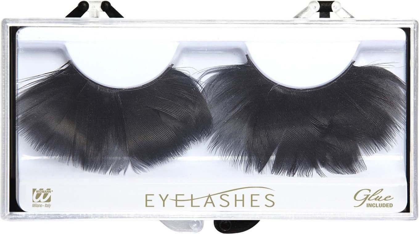 Black Feather Eyelashes (Glass Bottle Glue) Eyelashes - (Black)