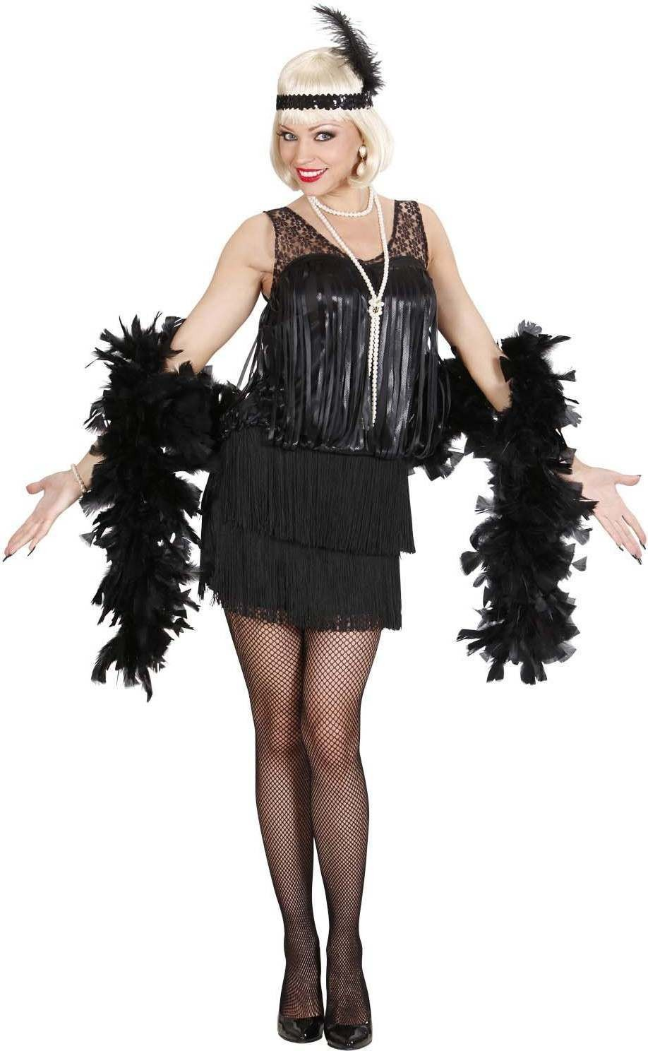 Ladies Black Roaring 20S Flapper (Dress Headband) 1920'S - Size 18-20 (Black)