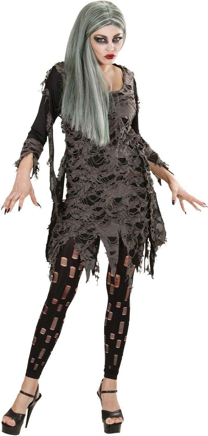Ladies Living Dead- (Dress Leggings) Halloween Outfit - (Black)