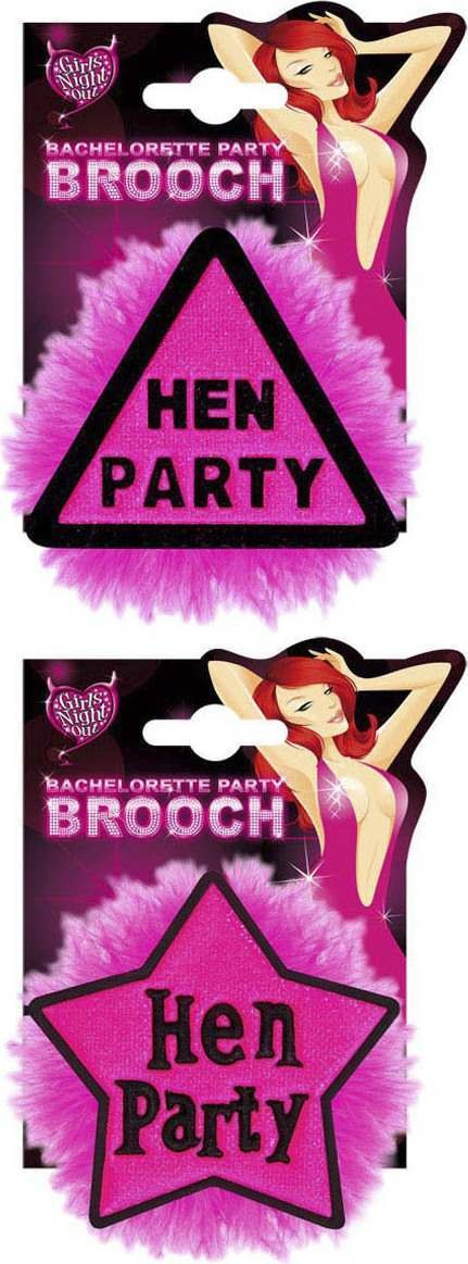 Hen Party Brooches - 2 Styles Asstd Jewellery