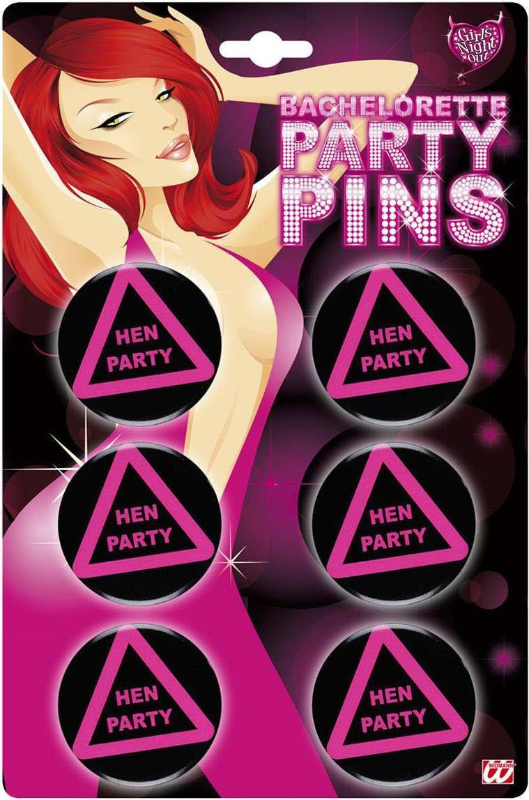 Hen Party Pins - Set Of 6 Other
