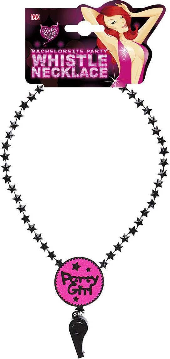 Party Girl Whistle Necklace Accessories