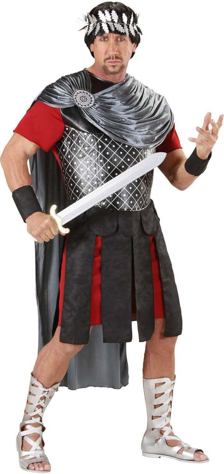 Mens Roman Emperor- (Tunic Cape Skirt Cuffs Laurel) Roman (Grey)