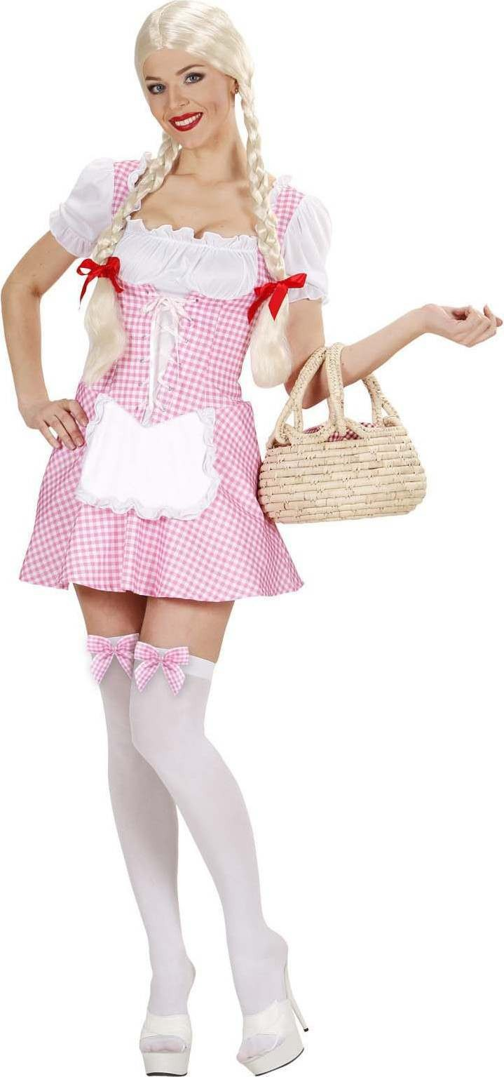Ladies Miss Muffet - Pink- (Dress) Fairy Tales Outfit - (Pink)